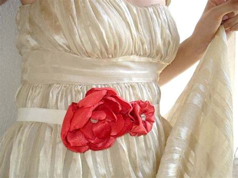 Coral red wedding dress sashes belt christmas wedding by mbrides 29