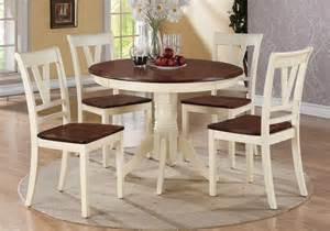 Cherry Kitchen Table And Chairs 5 Pc Country 2 Tone Cherry Wood Dining Table Side Chair Kitchen Set Ebay