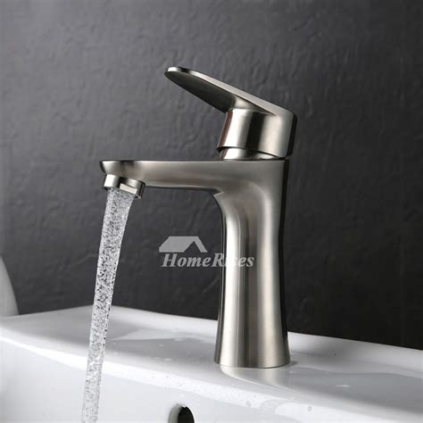 brushed nickel bathroom faucet single handle stainless