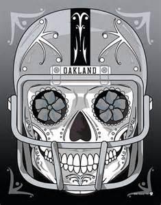Nfl Shower Curtain Oakland Raiders Sugar Skull 11x14 Print My Sugar Skulls