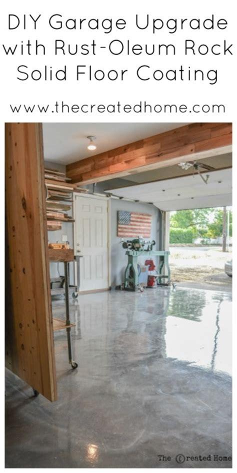 DIY Garage Upgrade with Rust Oleum Rock Solid   The