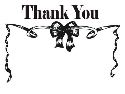 black thank you card template black and white thanks pictures to pin on