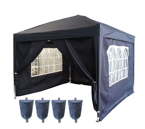 awnings with sides 3m x 3m pop up gazebo waterproof canopy awning marquee