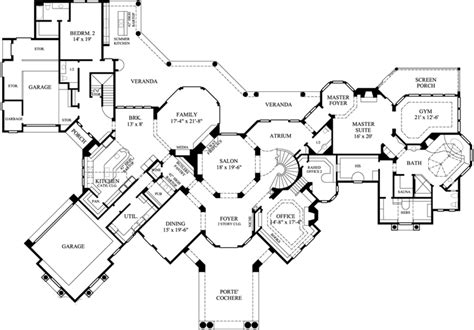 large 5 bedroom house plans luxury style house plans 8707 square foot home 2 story 5 bedroom and 5 3 bath 3