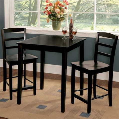 3 gathering height dinette set in black k46 3030 s402 2