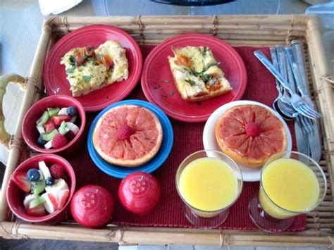 trinidad bed and breakfast egg strata and fruit for breakfast picture of trinidad bay bed breakfast trinidad