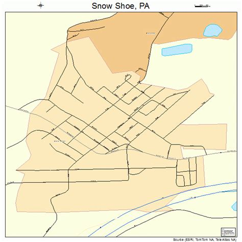 snow shoe pa snow shoe pennsylvania map 4271600