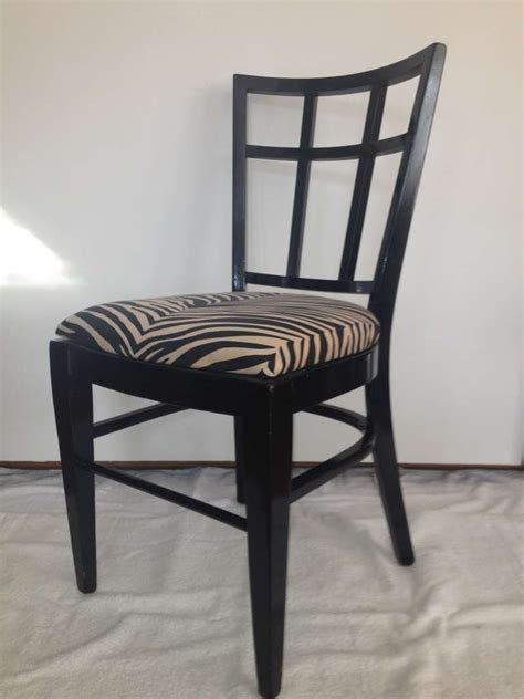 cafe carlyle set of six black lacquer dining chairs for