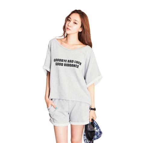 Hotpant Sleepwear Njc1409162780 cotton casual t shirt shorts sleepwear nightwear pajamas set homewear