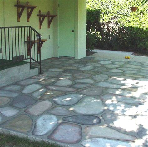 how to paint a faux concrete wall best 25 painted cement patio ideas on