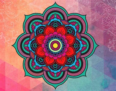 imagenes de mandalas coloridas desenho de mandala super colorida pintado e colorido por