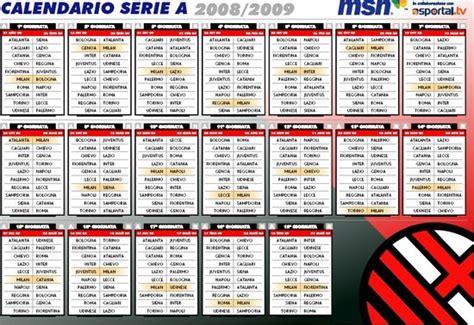 Calendario Calcio Serie A Calendari Della Serie A Di Calcio Gratis Emanuele