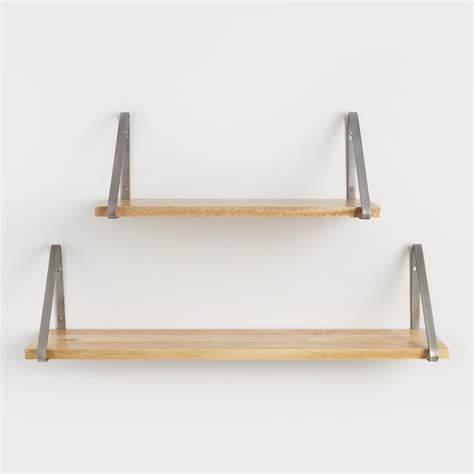 wall shelves natural wood mix match wall shelf collection world market
