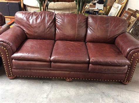 oversized nail leather sofa