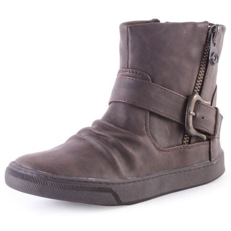 in boots blowfish pymm womens ankle boots in brown
