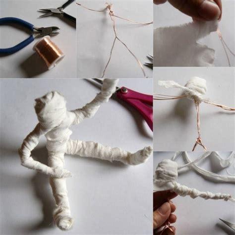 figuras de alambre  halloween momia actividades