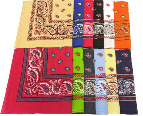 12 pack two tone assorted colors paisley bandana wholesale
