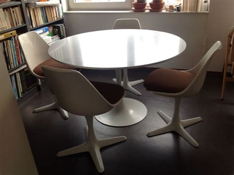 Arkana Tulip Chair by Maurice Burke For Arkana Tulip Dining Table With Four