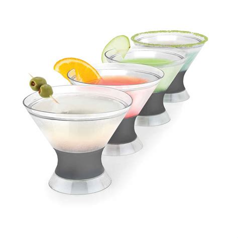martini two martini freeze cups set of 2 elegant gifts