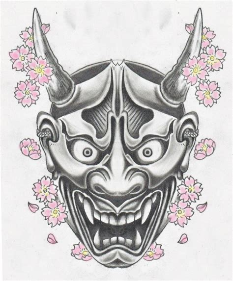 kanji mask tattoo hannya mask sketch pinterest masking fantasy
