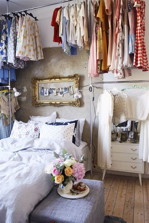 no closet in bedroom awesome idea high ceilings clothing storage no closet bedroom vintage style foliage flora