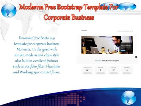 free bootstrap template for corporate moderna 12 best free bootstrap business templates in october 2015