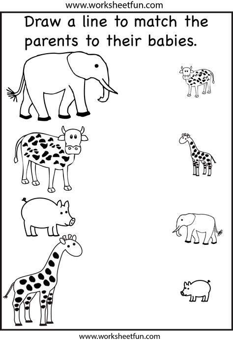 Toddler Learning Worksheets by Match The Parents 2 Worksheets Free Printable