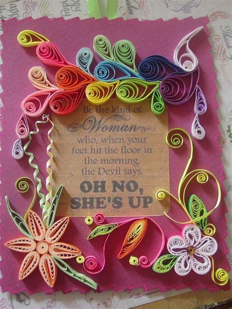 Paper Crafts Greeting Cards - quilling quilled flowers paper craft greeting cards