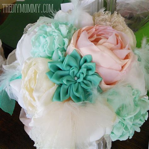 Wedding Bouquet Exles by How To Make Fabric Flowers For Wedding Dresses Best