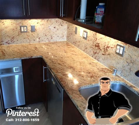 Polishing Granite Countertop bathtub cleaning caulking restoration in chicago