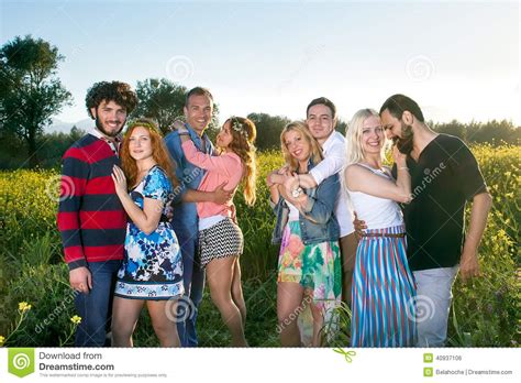 Couples 4 Couples Of Four Affectionate Couples Stock Photo