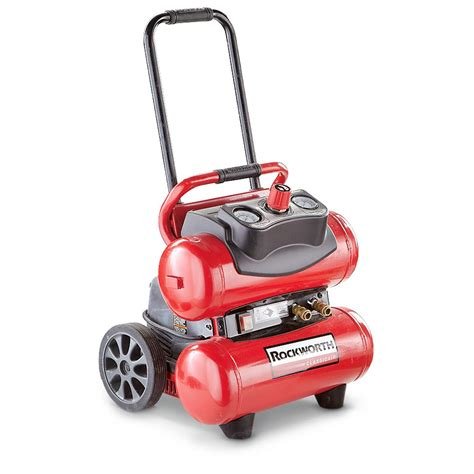 refurbished rockworth 174 4 gallon portable electric air compressor 613083 air tools at