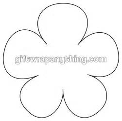 flower cut out template flower printable shape cutout brain time