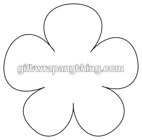 paper cut out templates flowers flower printable shape cutout brain time