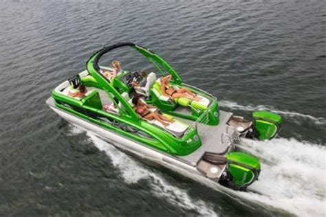 high end luxury pontoon boats 4 pontoon boats to achieve luxury on the lake outdoors