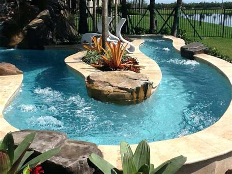 backyard pool with lazy river backyard lazy river pool cost residential lazy river pool