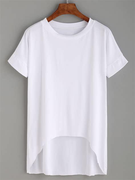 white high low t shirtfor women romwe