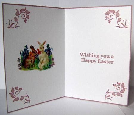 printable easter card inserts easter bunnies cardmaking insert photo by margaret mccartney