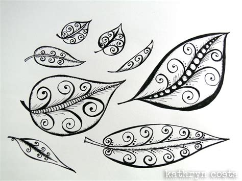 how to draw doodle swirls 1 leaf swirl drawing