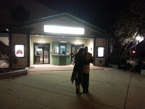 Princeton Garden Theatre by Dancers In Front Of The Theater For A Special Screening Of A Documentary By A Local
