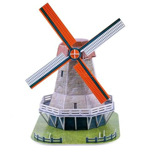 Paper Windmill Craft - magic puzzle windmill building model diy paper
