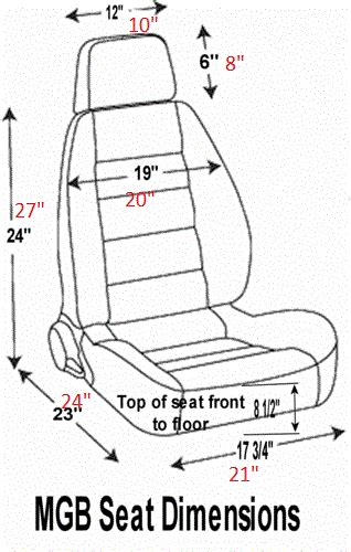 car seat dimensions order front seat dimensions for hhr chevy hhr network