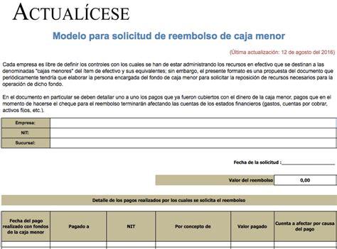 Calendario Tributario 2017 Nicaragua Liquidador Modelo Para Solicitud De Reembolso De Caja Menor