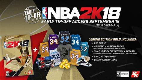 Nba 2k18 legend edition what s in it