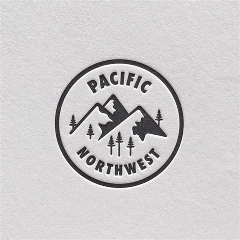 pacific northwest design pacific northwest typography pinterest logo design and circles