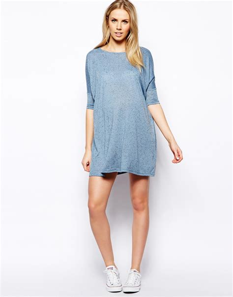 T Shirt And Dress Asos Maternity Tshirt Dress In Denim Neppi In Blue Lyst