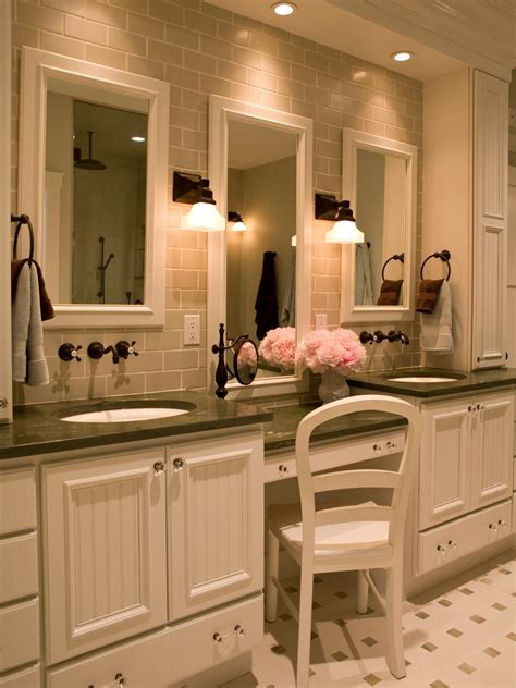 Vanity Designs For Bathrooms Makeup Vanity Dressing Table Bathroom Ideas Designs Hgtv
