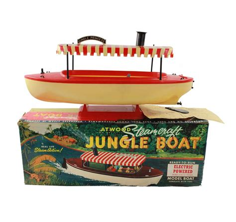 jungle cruise boat model 1957 disneyland atwood steamcraft electric powered jungle