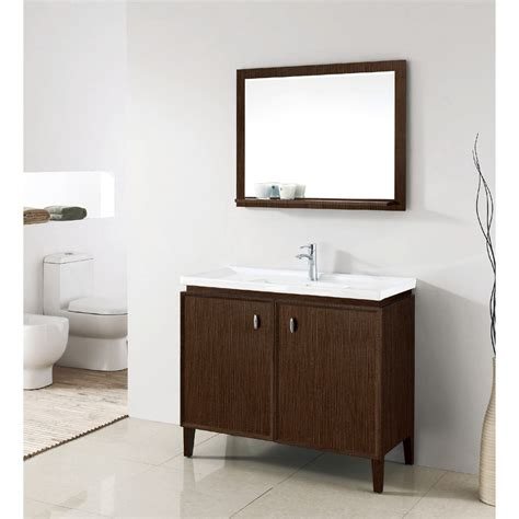 Bathroom Single Vanities Statesman 40 Inch Modern Single Sink Bathroom Vanity