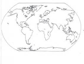 World Map Continent Outline by Blank Map Of The World Continents